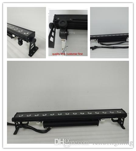 (2 개 / 많이) 무료 배송 LED 벽 세탁기 최신 제품 14x30w rgb 3in1 높은 전력 슈퍼 밝기 IP65 매트릭스 주도 벽 세탁기