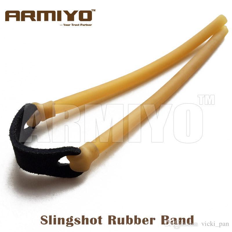 Armiyo 6mm * 9mm 탄성 번지 투석기 강력한 Slingshot Catapult 사냥을위한 고무 밴드 활 화살표 액세서리 5pcs / lot