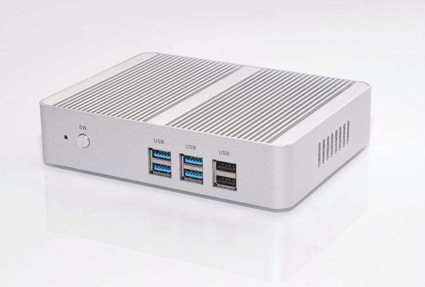 Livraison gratuite Fanless Intel N3150 Mini PC Celeron Quad Core 1.6 ~ 2.08 GHz Windows 10 Ordinateur Mini Dual HDMI WiFi Dual LAN TV Box