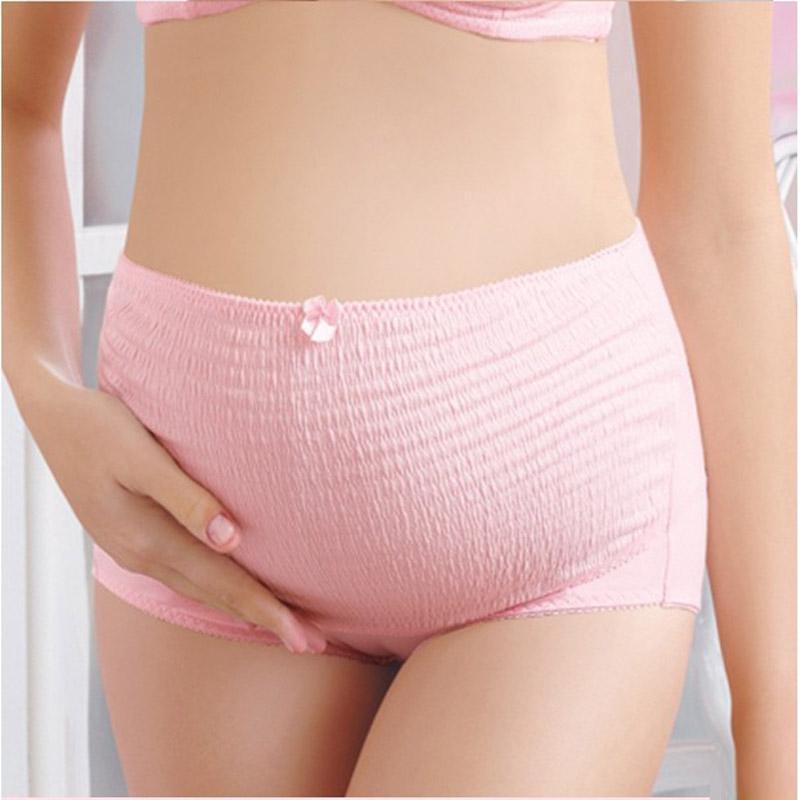 Baumwolle Frau Schwangerschaft Unterwäsche LOW Taille Slip Höschen XLL Rosa