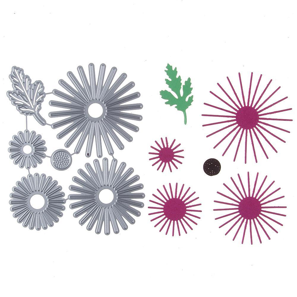 117 * 94 MM Çiçek Çerçeve Özelleştirilmiş Stencil Metal Kesme Ölür Kesim Uygulama Hands-on DIY Scrapbooking Albümü Zanaat ölür Aracı q171128