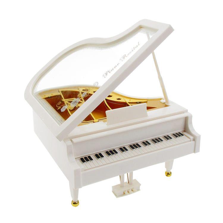 Venda criativa casa adorno mini simulação de piano caixa de música presente de aniversário artesanato criativo artigos de decoração