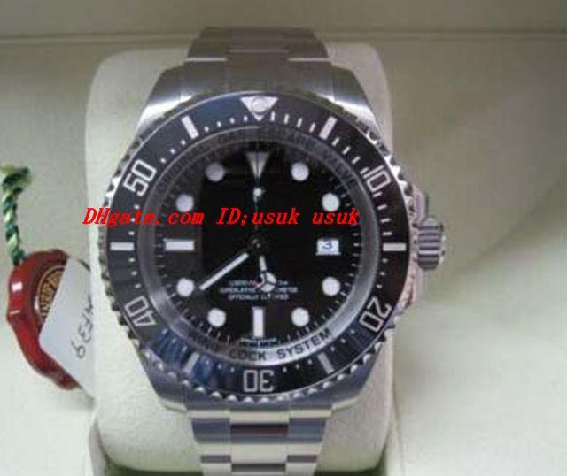 Luksusowe zegarki Nowy 116660 Męskie 44mm Automatyczny Zegarek Czarny Dial Bransoletka Ze Stali Nierdzewnej Męskie Zegarki na rękę