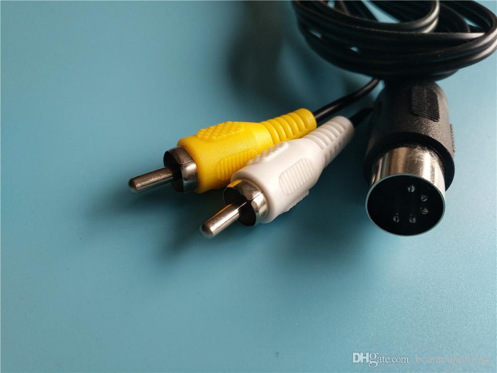 2rca A/V Av Tv Audio Video Composite Adapter Cord Cable For Sega ...