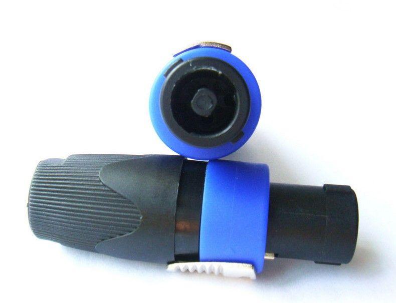 O envio gratuito de 10 pçs / lote alta qualidade speakon Twist-Lock 4-Pole Alto-falantes Plugue Masculino Chassis Speakon Soquete De Áudio Cabo Conector