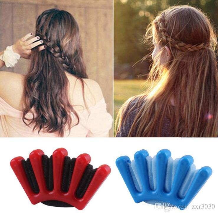 Fashion DIY Women Wonder Sponge Hair Braider Twist Styling Braid Tool Holder Hair Clip Styling Tools hair accessories