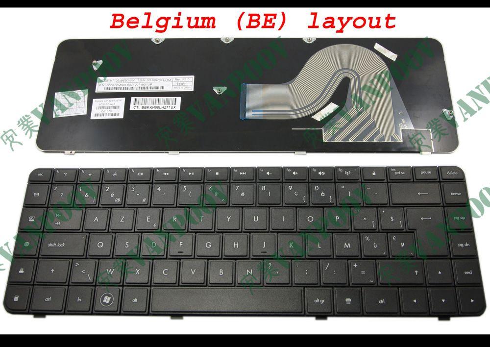 Nowy Notebook Klawiatura do laptopa do HP Compaq Presario CQ56 CQ62 G62 G56 Black Belgia BE - MP-09J86B0-886