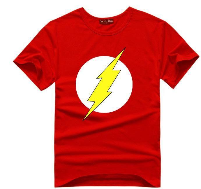 Wholesale- The BIG BANG Theory T-SHIRT the flash print women and men t shirts hot selling casual Tee shirt S~XXL cotton clothing dropship
