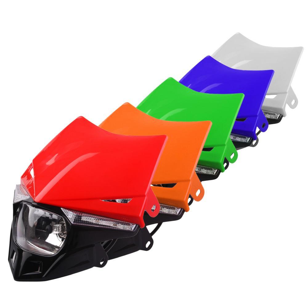 4 Renkler Evrensel Yeni Off-Road Araç Modifiye Far Honda CRF Motosiklet Aksesuarları Için LED Motosiklet Işık