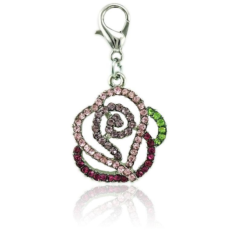 جديد وصول موضة سحر مع المشبك جراد البحر متعدد الألوان حجر الراين زهرة diy سحر لصنع المجوهرات الملحقات