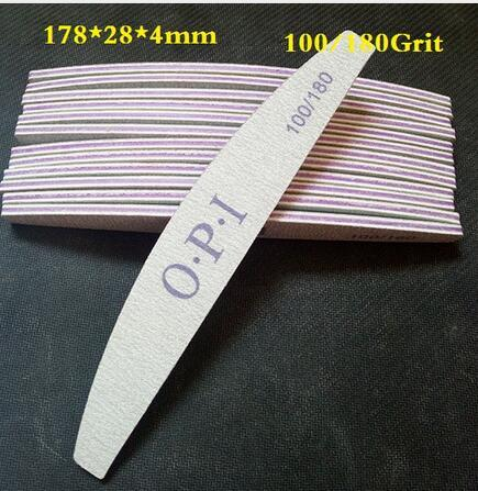 Vente en gros- 80pcs Vente en gros de l'ancien client le plus bas, Fichier à ongles de haute qualité, 100/180, Fichier à ongles Zebra, Manucure Nail Outils