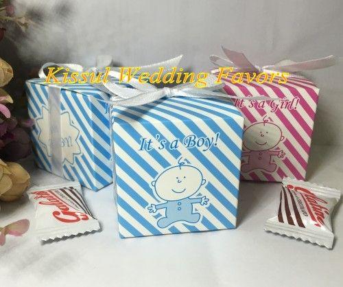 (100 Pz / lotto) 2016 Più Nuovo Incredibile Baby shower box favore di Oh baby è una ragazza Baby birthday Party Confezione regalo e Baby candy box SPEDIZIONE GRATUITA