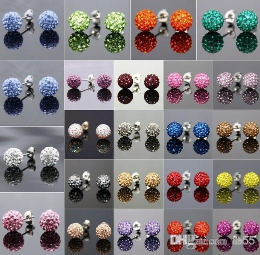 Nouveau Style! 10mm Mixte 20 Couleur En aléatoire MSB disco Perle Boule Bracelets FRDG Femmes Hommes Cristal Bracelet bijoux en gros