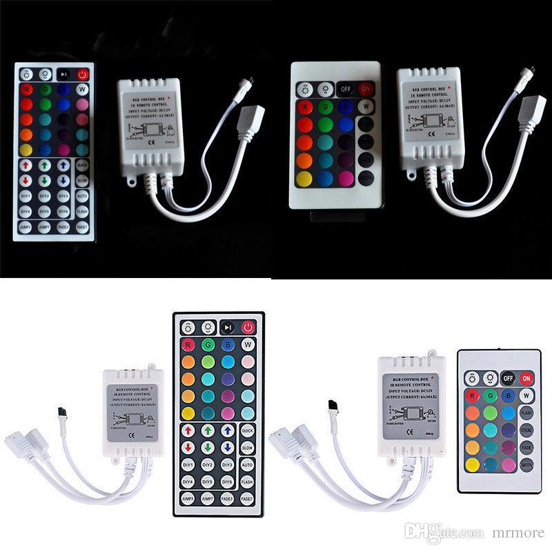 Contrôleur LED RGB DC12V Mini 44/24 Télécommande IR pour 3528 5050 RGB LED Strip Lights Module 7 couleurs
