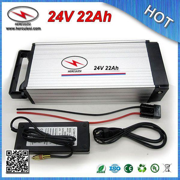Batteria elettrica 24V 22Ah + portapacchi posteriore a prezzo economico con custodia in alluminio da 30 V BMS da 30 V BATTERIA 18650 + caricabatterie SPEDIZIONE gratuita