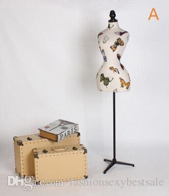 Moda all'ingrosso 8style mezzo corpo modello modello modello modello femmina modello schaufensterpuppe cosmetologia cucito-manichino per vestiti 1pc B588