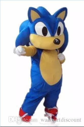 2018 novo Siber Hedgehog Sonic Mascot Costume Personagem de Desenho Animado Partido ou Comercial Abastecimento Adulto Tamanho