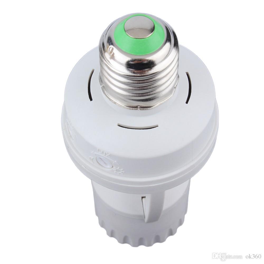 AC 110-220V 360 Derece PIR İndüksiyon Hareket Sensörü IR kızılötesi İnsan E27 Fiş Soket Anahtarı Bankası Led Ampul ışık Lamba Tutucu