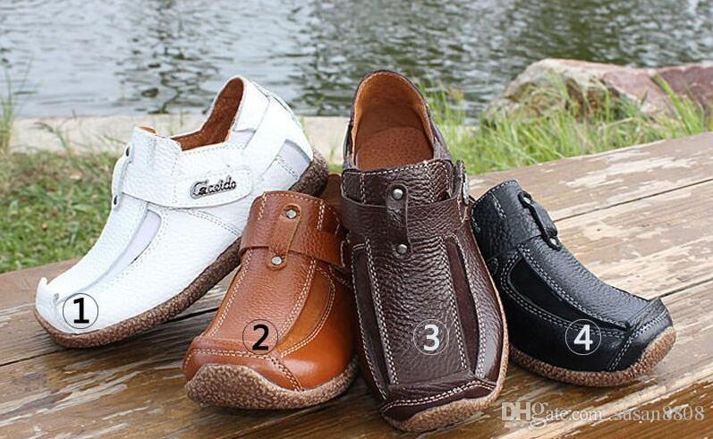 2017 أفضل بيع ذات جودة عالية للأطفال Casunal أحذية جلدية حقيقية