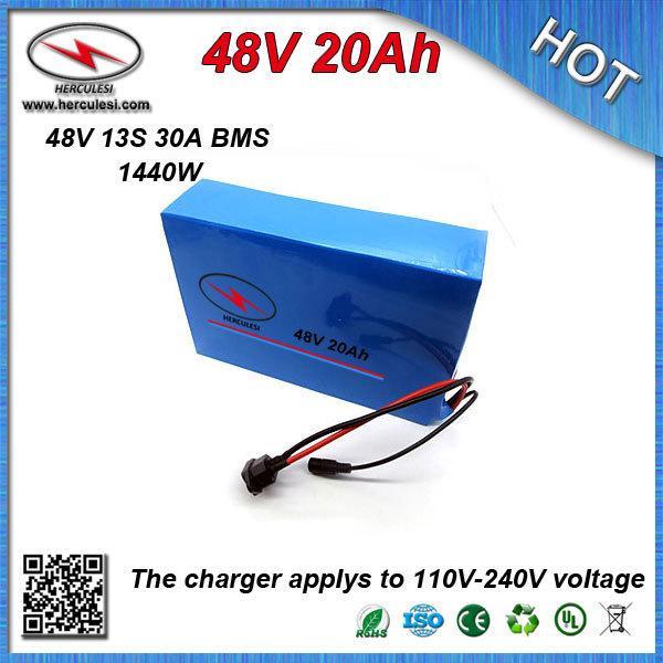 Consigliamo vivamente batteria batteria agli ioni di litio della batteria da 48 V 20ah con custodia in PVC Costruito in 13S 30A Caricabatterie BMS + CC / CV