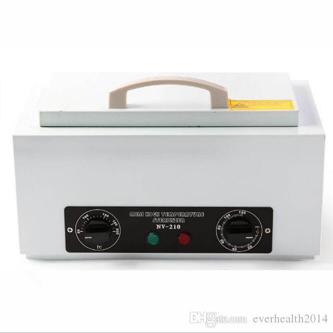 NV-210 ارتفاع درجة حرارة التعقيم للجمال مانيكير مقص أداة التطهير الهواء الساخن مع إزالة الفولاذ المقاوم للصدأ خزان منشفة الأشعة فوق البنفسجية مربع