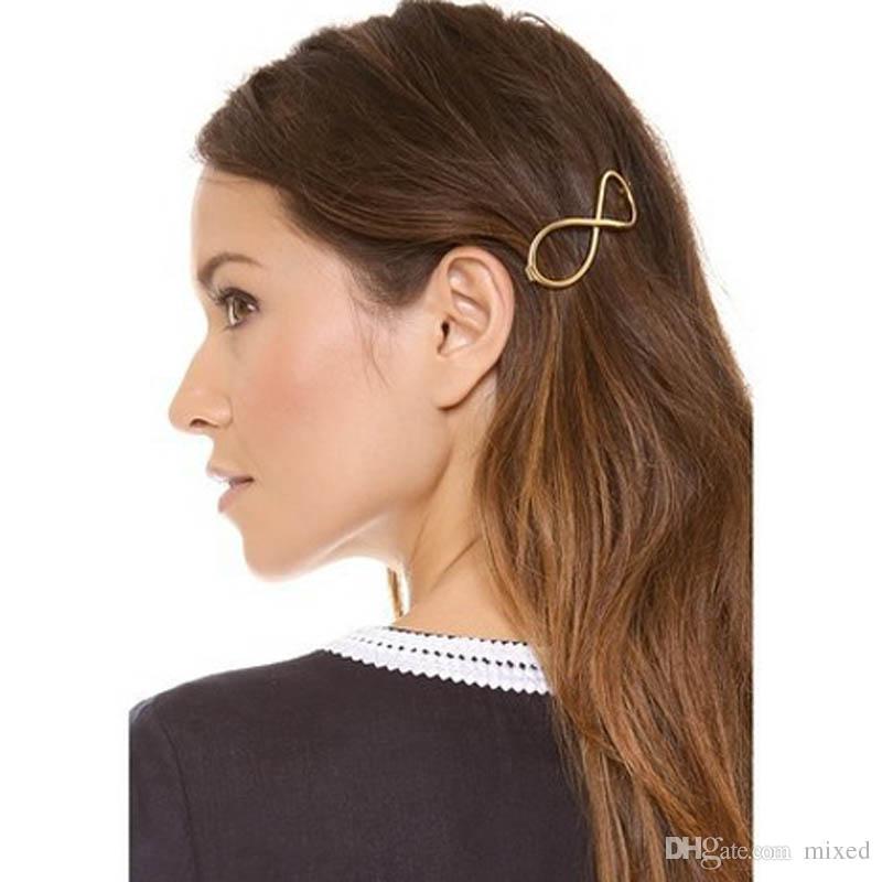 1 PZ Donne Infinity Oro Barrette Tornante Clip di Capelli Accessori per capelli Fascia Dei Monili Dei Capelli Regalo Perfetto per la signora