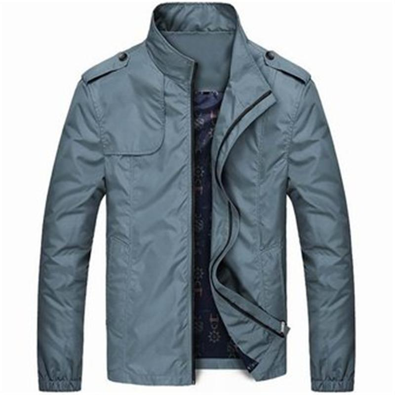 Wholesale- New Lightweight Mens 발수제 스탠드 칼라 재킷 남성 캐주얼 재킷 스포츠웨어 폭격기 재킷