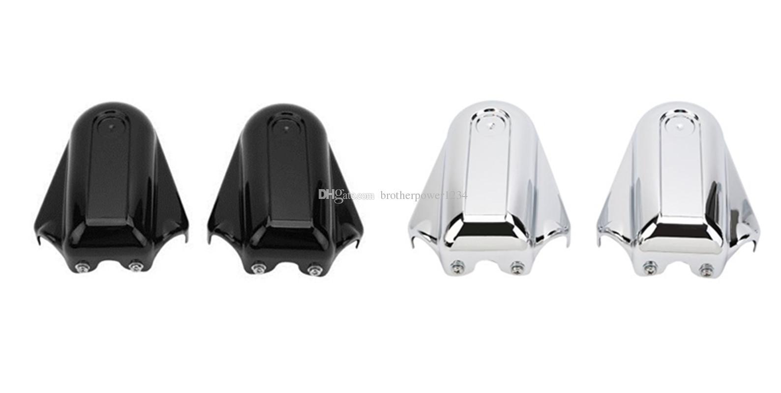Chrome Phantom Bar Shield Rear Axle Covers For Softail Deluxe FLSTN 08-16 FXSTB
