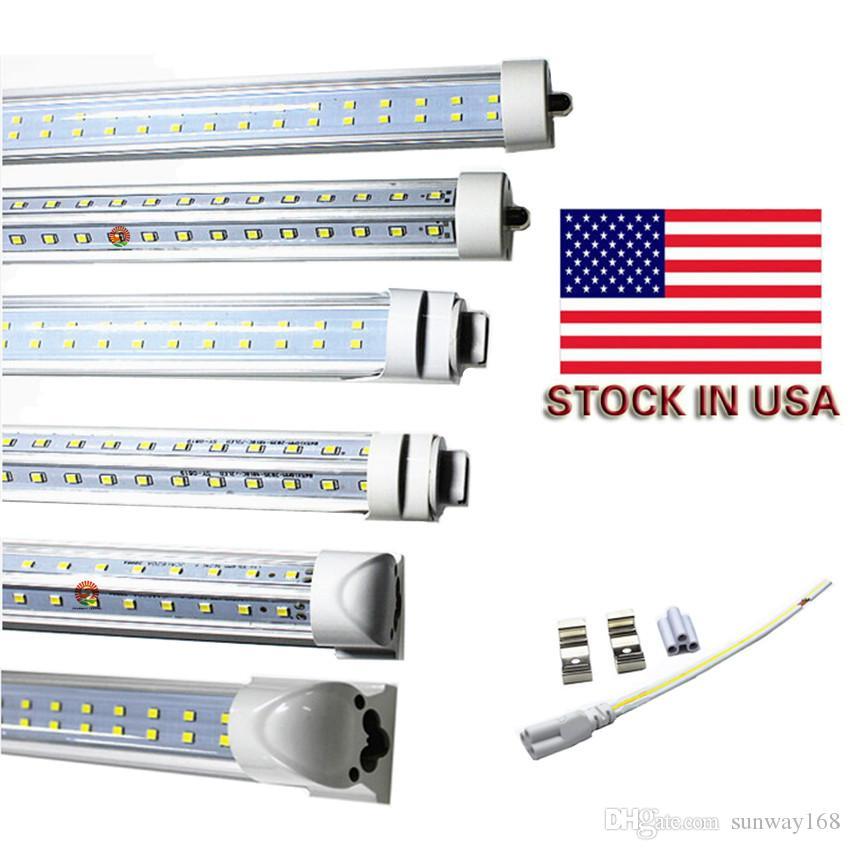 Tubos LED R17D 72W T8 8FT FA8 PIN simple G13 R17D Lado doble integrado SMD2835 Tubos de luz LED 8 pies UL AC 85-265V