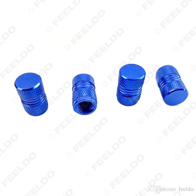 4 Stueck Hexagon Reifen Reifen Ventilkappen Vorbauten Abdeckung Lila fuer Fahrze