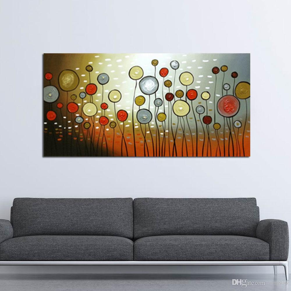 Riesige Handfarbe Leinwand Ölgemälde Abstrakte Blume Wandkunst Wohnkultur Ölgemälde auf Leinwand Multi Größen akzeptieren Anpassungsanpassung ab048