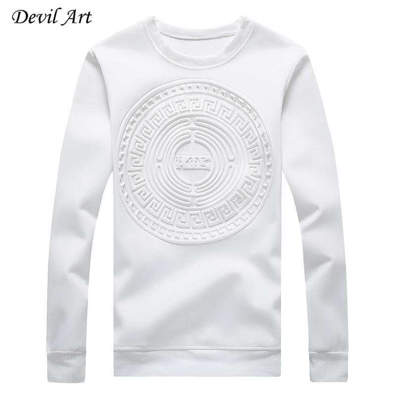 Modelos abstractos circulares sin tapa sudaderas mayor-Men Pure Casual Color de la camiseta de la chaqueta de la moda del tamaño extra grande: M-5XL 968