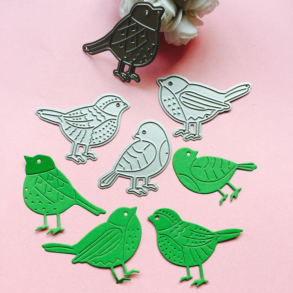 4PC Birds Metal Cutting Dies Stencil DIY Scrapbooking Album Paper Card Embossing Craft Gift