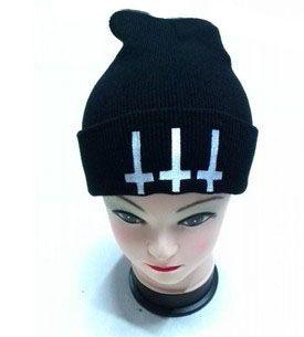 Satan evil devil demon fashion cap hat autumn and winter knitted hat skiing wool cap Headgear Headdress Head Warmer Skiing warm hat