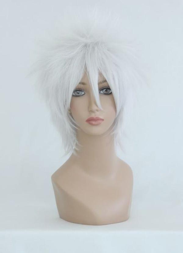 MCOSER Silvery White Berühmte Männliche Gin Tama Sakata Gintoki Stil Synthetische Kurze Gerade Cosplay Perücke Kostenloser Versand Cosplay frauen peruca hai