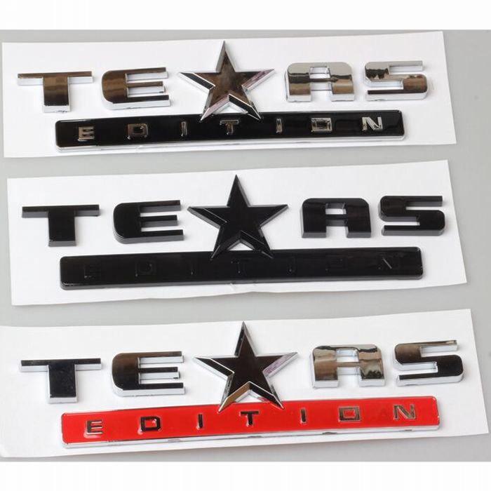 3D Texas Edition Emblem Badge Stickers For Chevy SILVERADO GMC SIERRA Tailgate Trunk Hood Bumper Decal