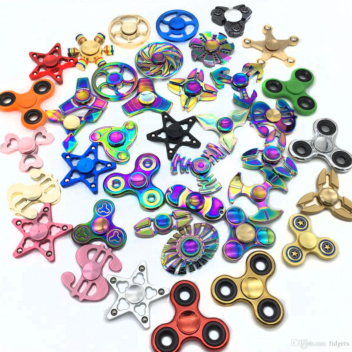 Rainbow Hand Spinner Fidget Finger Alloy:Shipped/&Delivered In 2days From USA