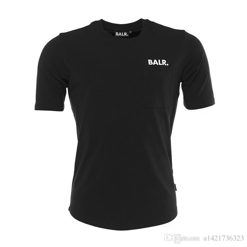 NOVA Balr Rodada de Volta BALRED Alta qualidade T shirt top tees para homens balr tshirt clothing fundo redondo longo voltar O Pescoço t camisa tamanho Europeu