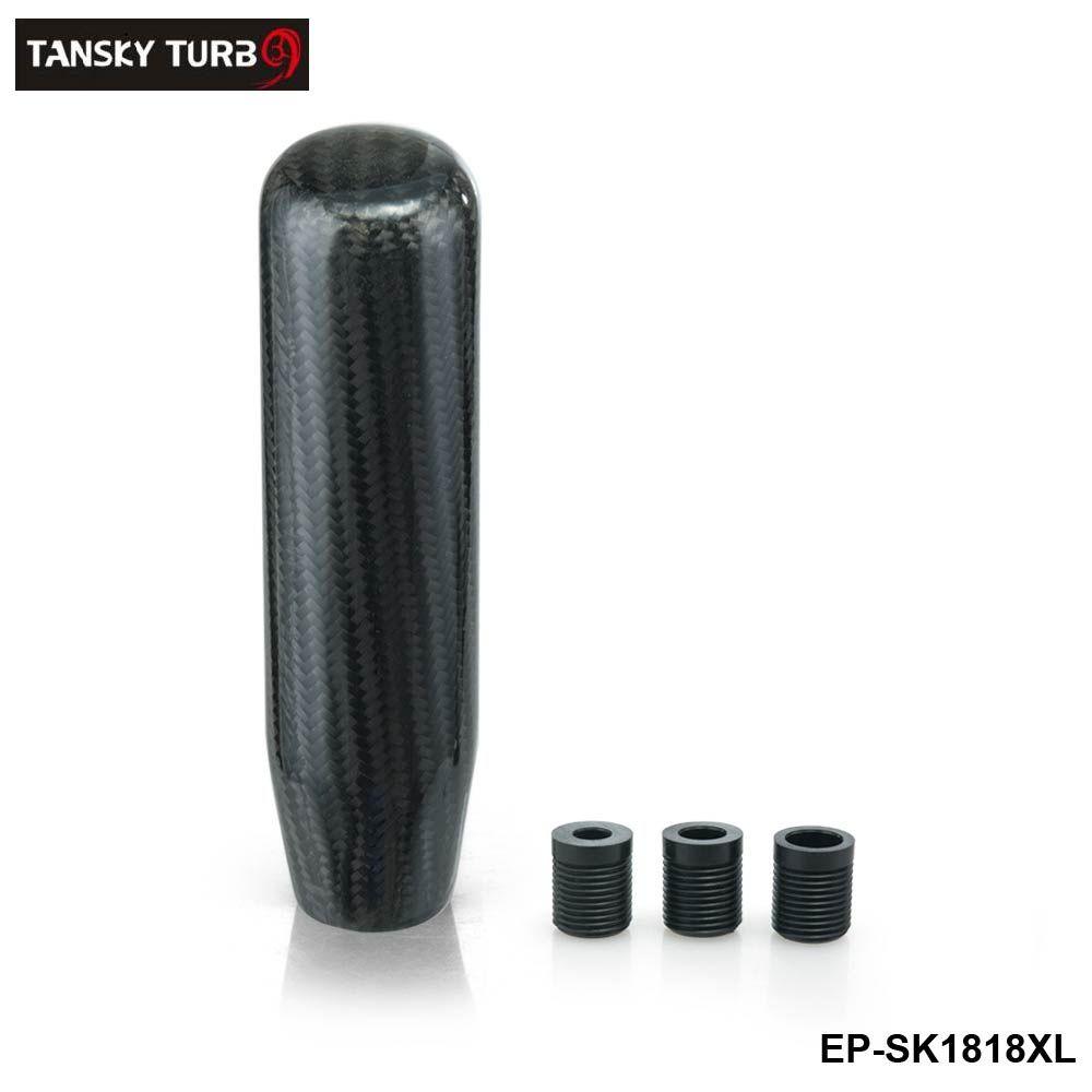TANSKY -NEW 130mm Carbon Fiber Manual Transmission Aluminum Gear Shift Knob For Honda VW BMW EP-SK1818XL