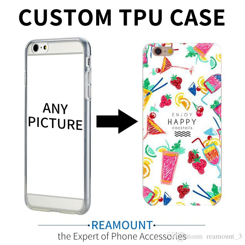100pcs Custom Logo Design DIY TPU Phone Case For iPhone 5 5S SE 6 6S 7 Plus Customized Printed Back Cover For iPhone