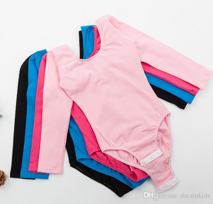 여자 발레 의류 무대 착용 부드러운 편안한 아이 댄스 옷을 면화 조끼 leotard 드레스 4 솔리드 단색 도매