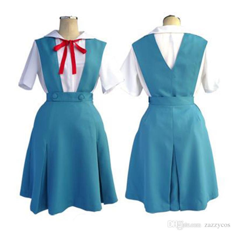 Евангелион Ева Ayanami Rei Униформа Косплей Костюм Платье Наряд