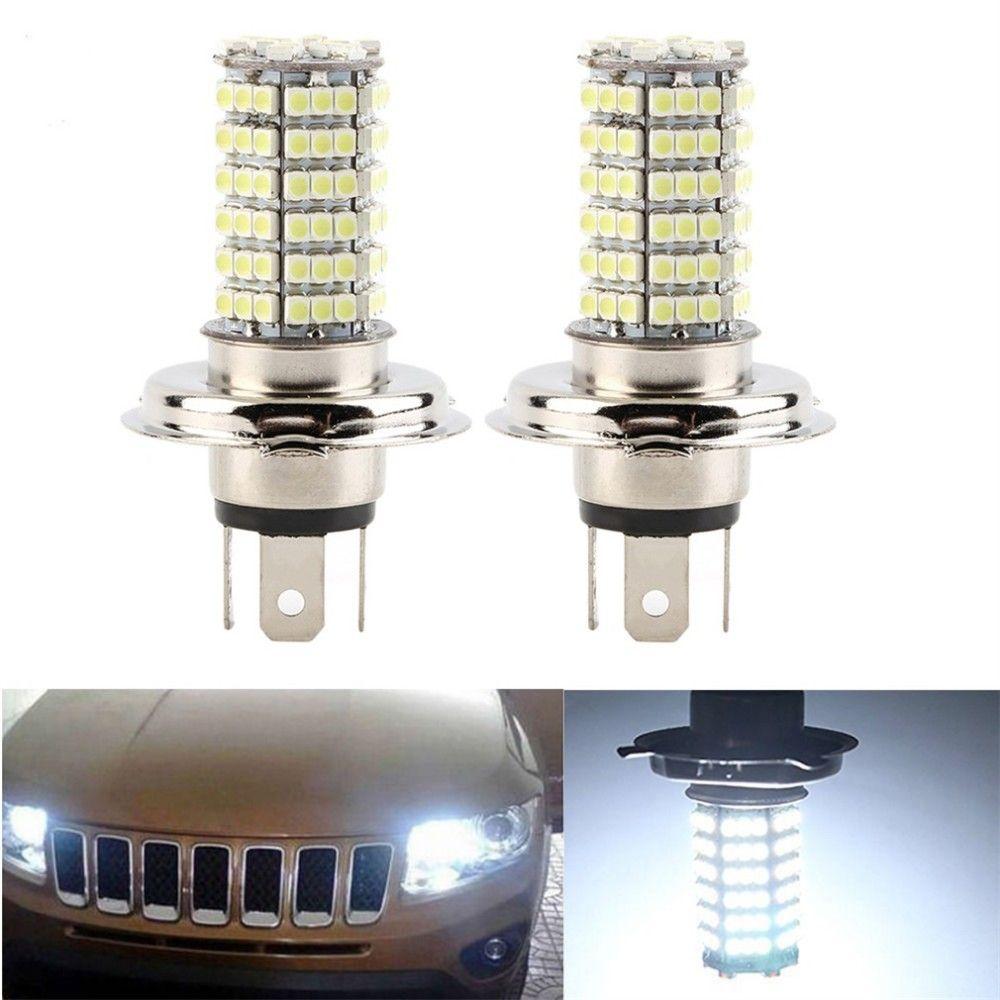 H4 120 SMD чистый белый глава противотуманные фары светодиодные автомобилей свет лампы лампы авто автомобиль светодиодные лампы автомобилей источник света парковка 12 в 6000 К