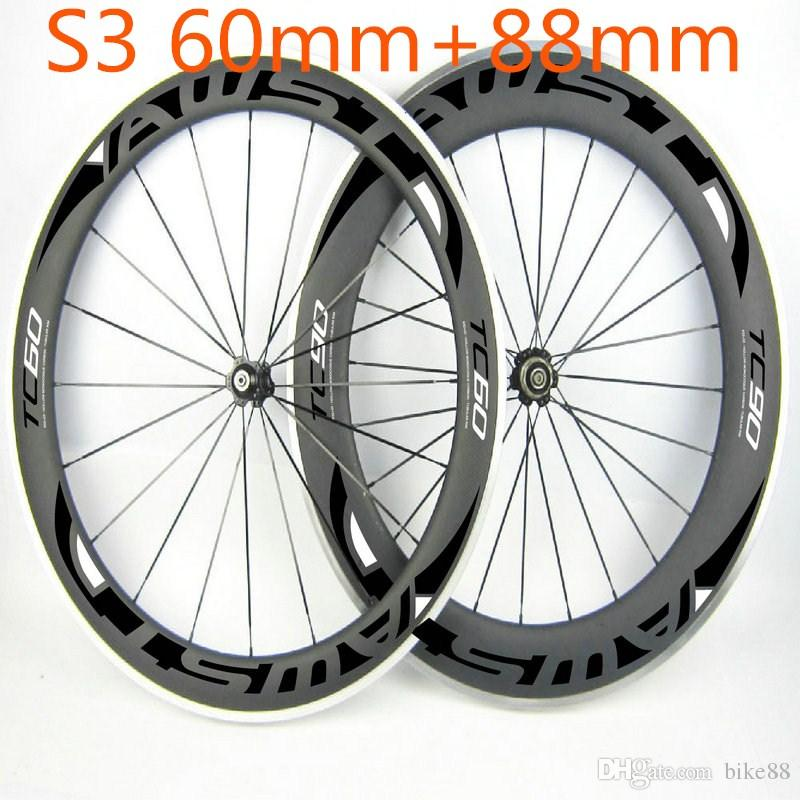Cheap china carbon wheels clincher shiman 11s front 60mm rear 88mm alloy carbon wheels basalt surface wheels powerway hubs free shipping