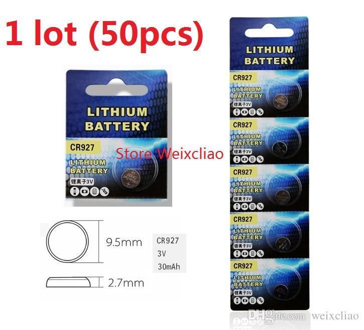 50 sztuk 1 partia CR927 3V Litowy LI Ion Button Cell Bateria CR 927 3 VOLT LI-ION Baterie Monety Darmowa Wysyłka