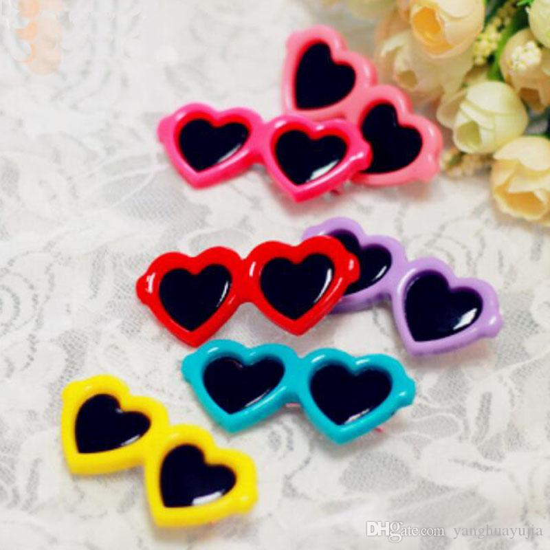 100pcs/lot Colorful Sunglasses style pet dog hair clips Pet cat puppy hairpin Fashion grooming accessaries