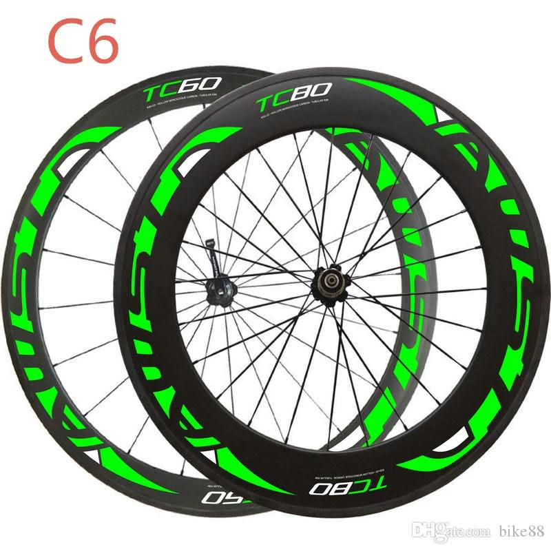 Free shipping Chinese carbon wheels 700C DU glossy clincher/tubular green decal bicycle carbon wheels 60mm and 88mm road bike carbon wheels