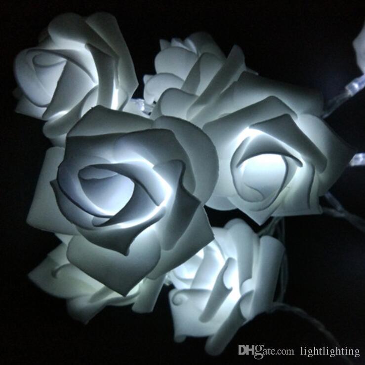 الأحداث والأحزاب 2M 20LED روز الصمام سلسلة الأنوار البطارية الزفاف الديكور عيد الميلاد الإنارات روزا LED Guirlande Lumineuse
