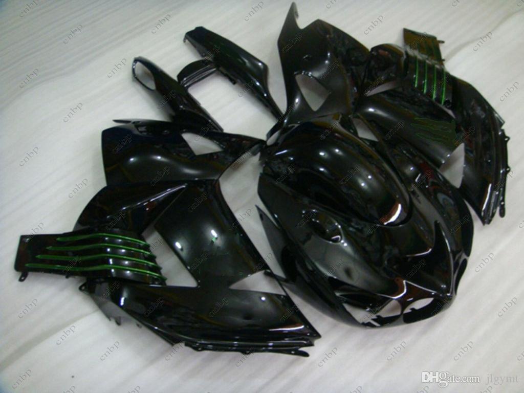 Full Body Kits for Kawasaki Zx14r 08 09 Plastic Fairings Zx14 Zx-14r 2009 Black Body Kits ZZ-R1400 2007 2006 - 2011