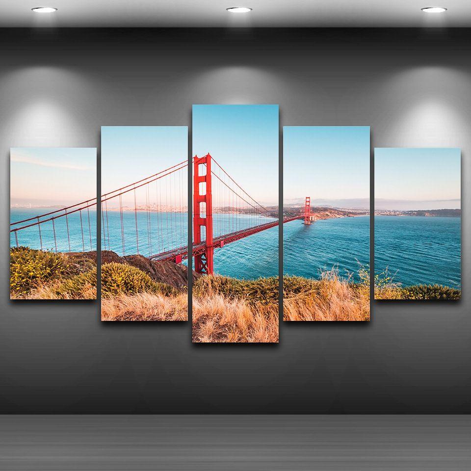 Canvas Print Painting Picture Photo Home Decor Wall Art Landscape Bridge Framed